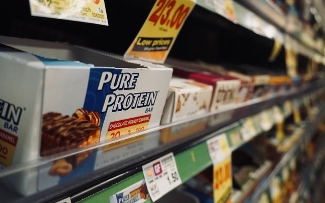 Unhealthy foods protein bars pure