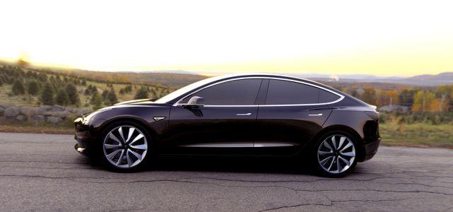 Tesla Model 3 schwarz Elektroauto