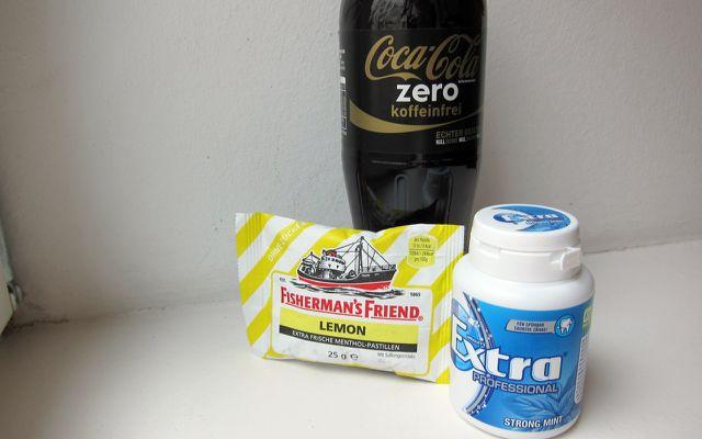 Aspartam Coke Zero, Kaugummi Fishermen