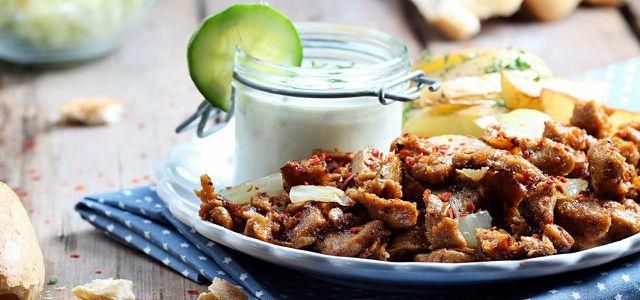 Wheaty Vegankebab Gyros aus Seitan als Fleischersatz