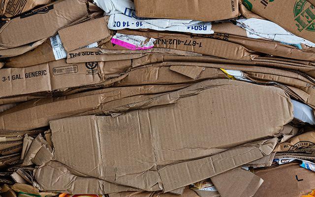 Pappe Müll Papier Altpapier