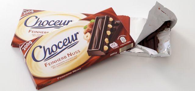 """Als einzige Schokolade """"nicht belastet"""" im Öko-Test: Choceur Feinherb Nuss"""
