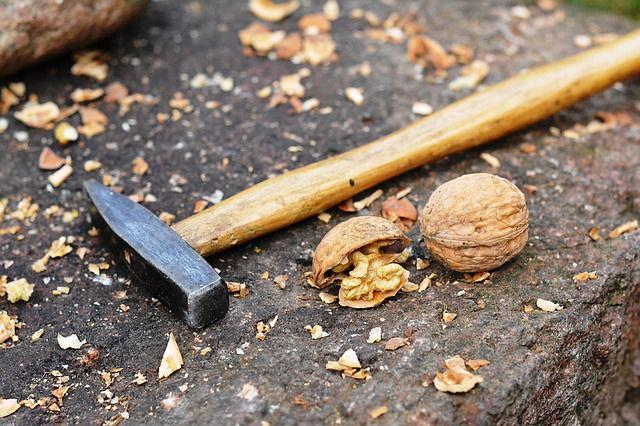Nüsse knacken ohne Nussknacker