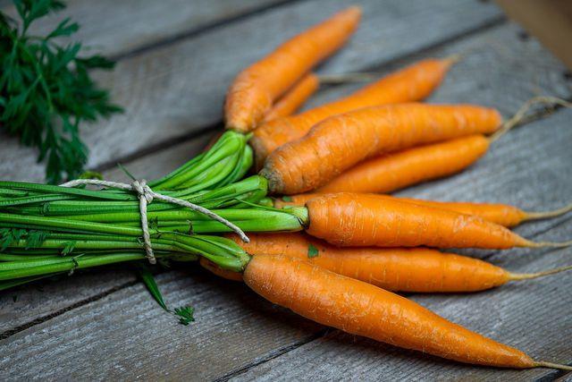 Möhren sind ein guter Lieferant für Vitamin A.