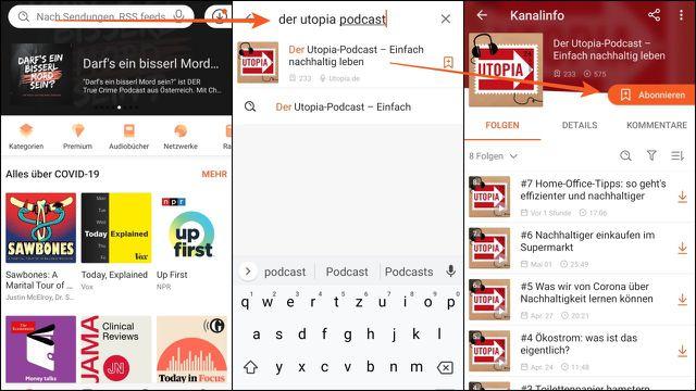 In der Android-App Castbox einfach nach unserem Podcast suchen – und ihn abonnieren.