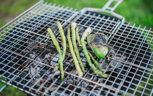 grilling wild asparagus