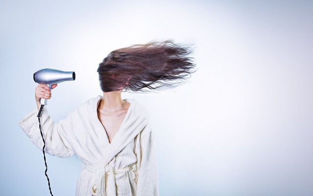 Protect your hair by air-drying it.