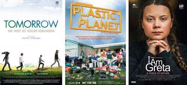 Tomorrow (2016), Plastic Planet (2010), I am Greta (2020)