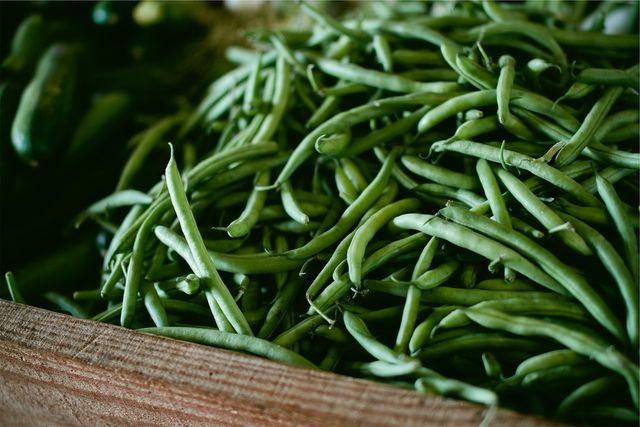 Grüne Bohnen haben im Juli und August Hauptsaison.