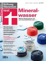 Stiftung Warentest 06/2015: Mineralwasser im Test