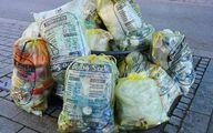 Styroporabfall von Verpackungen gehört in den gelben Sack.