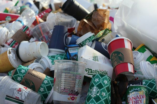 Paper cups often aren't recyclable.