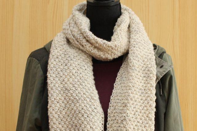 Schal stricken ist auch für Anfänger geeignet.