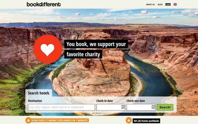 Ökologische Reiseportale: BookDifferent