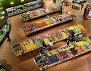 Gemüse liegt im Supermarkt meist im Eingangsbereich.