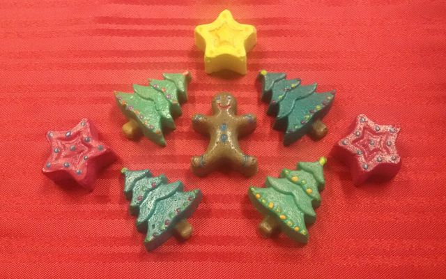 salt dough ornaments: Christmas tree stars, gingerbread man
