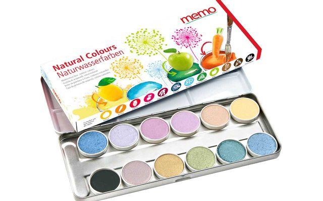 Naturwasserfarben: Wasserfarben-Malkasten Natural Colours von memo