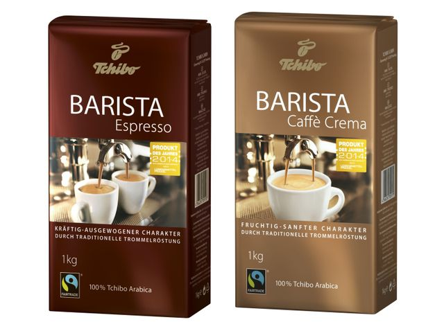 Tchibo Barista Fairtrade-Kaffee: Die Barista-Linie für Vollautomaten gibt es ab 13 Euro/Kilo