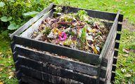 Kompost im Komposter hilft beim Kompostieren und bringt Dünger für den Garten