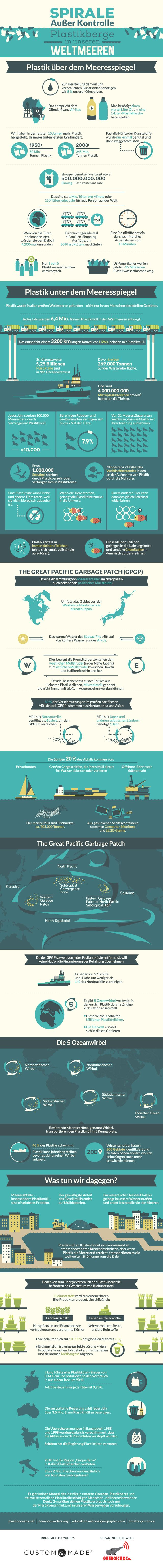 Infografik Plastikmüll im Meer (deutsch)