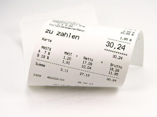 Kassenzettel Altpapier