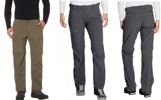 Wanderbekleidung: Zip-Off-Hosen von Vaude