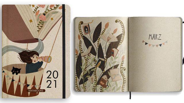 Taschenkalender aus Graspapier