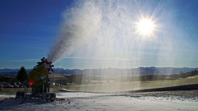 Klimaangst Klimahysterie Schneekanonen