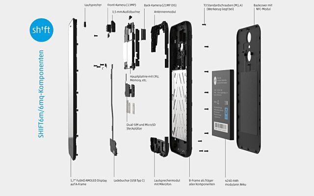 Shiftphones Shift6m modulares Handy reparierbar
