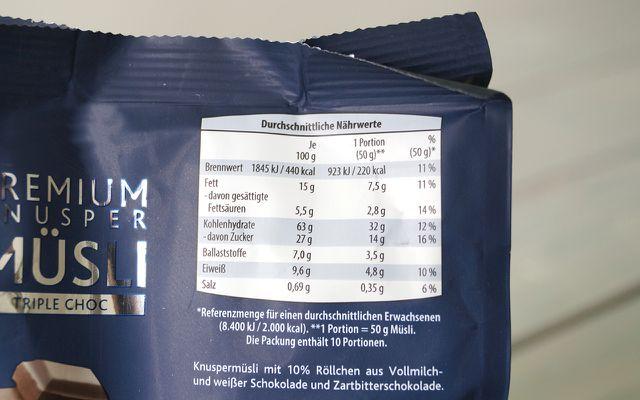 Oft enthält Müsli zu viel Zucker und Fett