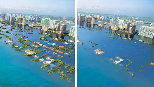 Klimawandel, Klimakrise, Meeresspiegel, Städte, Bilder