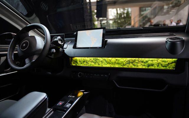 Das Sion-Auto innen: Innovationen wie Moos als Luftfilter …