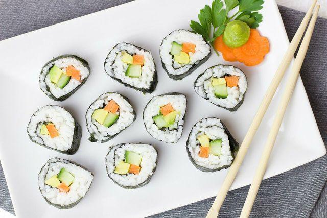 Wasabi-Paste ist eine klassische Beigabe zu Sushi.