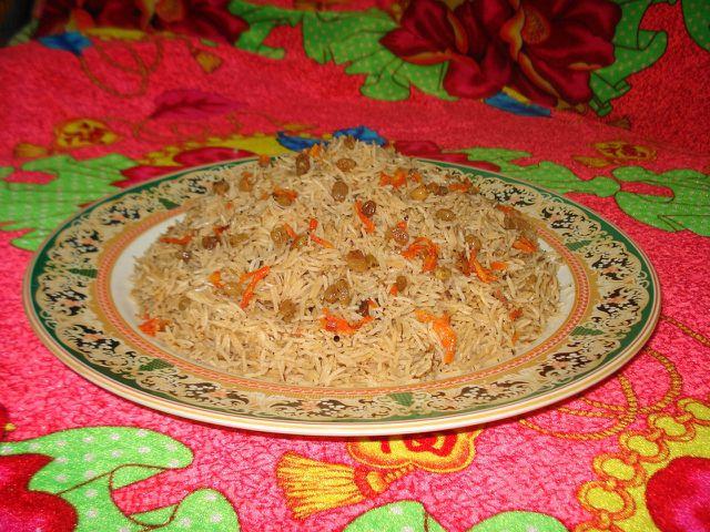 In dieser Form wird Pilawreis meist in Afghanistan serviert.