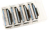 Die gebrauchten Rasierklingen kannst du in ihrer transparenten Originalpackung entsorgen.