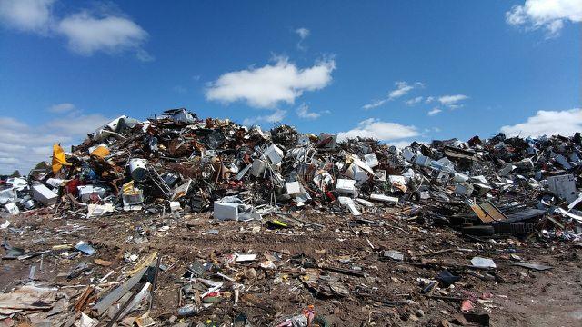 Urban Mining, Müll auf der Mülldeponie