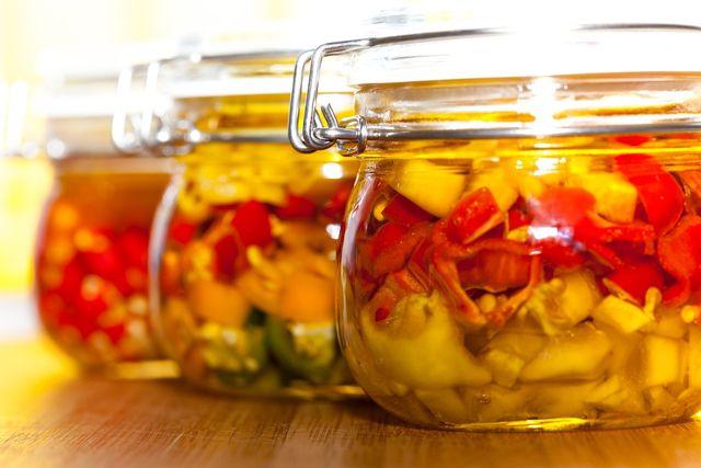 Paprika in Öl eingelegt