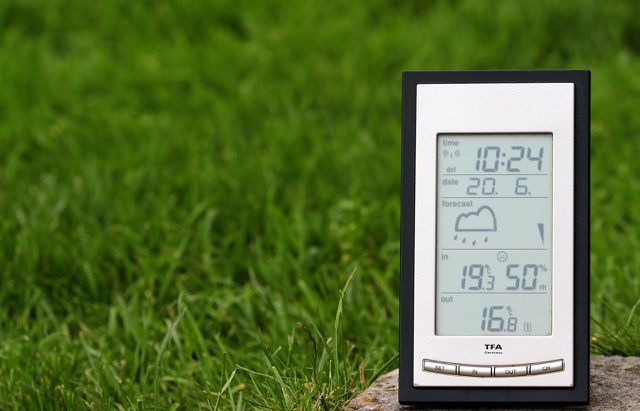 Mit der Wetterstation hast du Raumtemperatur und Luftfeuchtigkeit im Blick