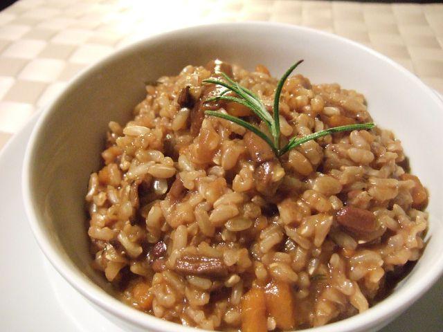 Cremige Risottos aus Risotto-Reis enthalten viele Nährwerte.