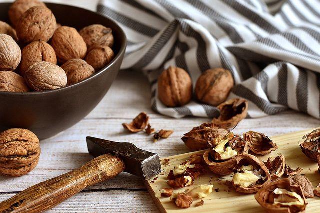 Nüsse enthalten B Vitamine.