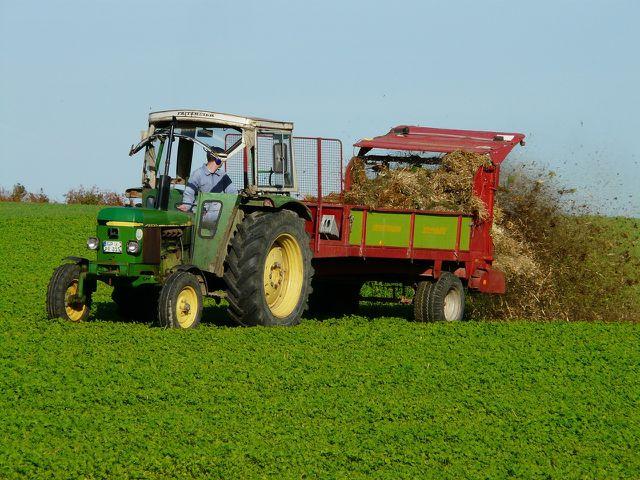 Abfälle aus der Landwirtschaft können in Biogasanlagen vergoren werden.
