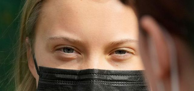 Greta thunberg ist beim globalen Klimastreik am Freitag in Berlin.