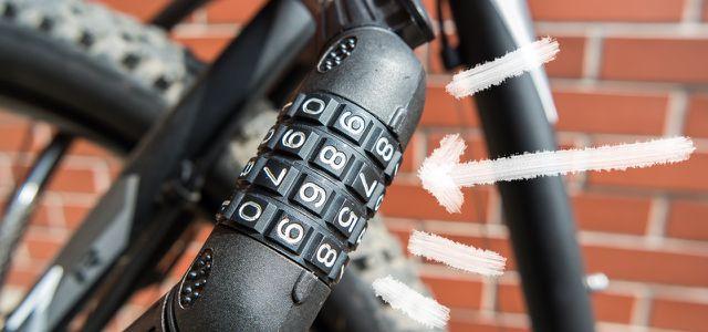Fahrradschloss mit Zahlenschloss