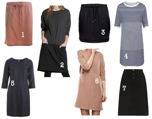 Minimalistischer Kleiderschrank: Kleider und Röcke