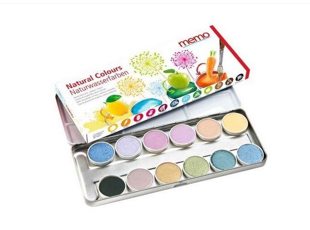 Mit Wasserfarben aus natürlichen Inhaltsstoffen macht das Malen noch mehr Spaß