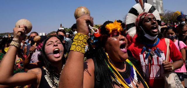 Indigene Aktivist:innen in Brasilien