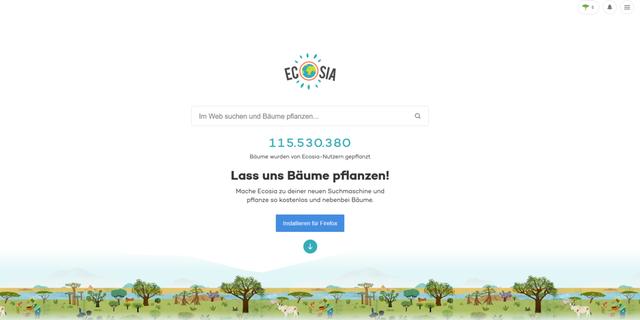 """Ecosia ist einer der Gewinner der Kategorie """"Nachhaltige Unternehmen"""" des Deutschen Nachhaltigkeitspreises."""