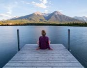 Minimalist living woman mindfulness