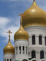 Russischer Zupfkuchen soll nach den Turmkuppeln russischer Kirchen benannt sein.