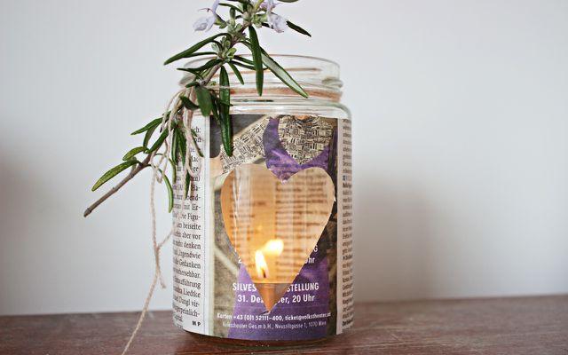 Muttertagsgeschenke selber machen: Kerze basteln